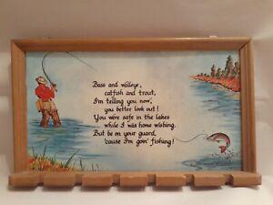 1985 House Of Lloyd Fishing Plaque, Razor, Toothbrush Or Key Holder