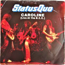 """Status Quo – Caroline (Live At The N.E.C.) 7"""" Vinyl Single 1982 Rock QUO10 UK"""