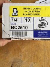 "ARLINGTON INDUSTRIES BC2510 BEAM CLAMP 1/4"" -10 PACK"