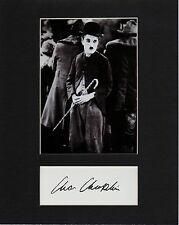 CHARLIE CHAPLIN  CUSTOM 8 by 10 MATTED REPRINT PHOTO & REPRINT  AUTOGRAPH