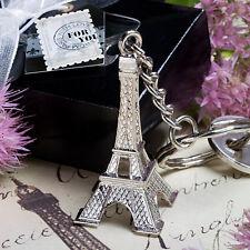 Bomboniera utile matrimonio confezionata scatolo portachiavi torre eiffel Parigi