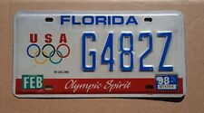 1998 Florida Olympic Games License Plate - Olympics
