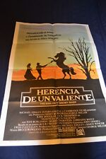 Man From Snowy River Movie Poster in Spanish from Argentina 80's