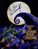 Chris Sarandon Ken Page Signed Nightmare Before Christmas 8x10 Photo OC Holo OC2
