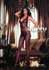 Body Suit Slinky Sheer Full Lacy Body Stockings Hosiery Open Back EH Q8607