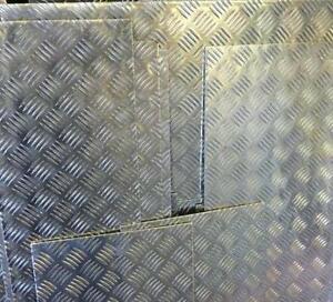 Aluminium Treadplate / Chequerplate. 2mm, 3mm, 4.5mm thick. Ideal for flooring.