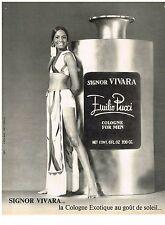 PUBLICITE  1971   EMILIO PUCCI  eau de Cologne SIGNOR VIVARA