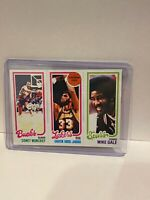 1980 Topps Kareem Abdul-Jabbar 133 Moncrief Gale Los Angeles Lakers Basketball