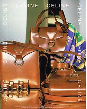 PUBLICITE ADVERTISING 114  1993  CELINE  boutique maroquinerie sacs foulards