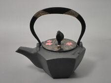 Gourd type Kotetsubin - Sakura in the water - 160ml - Small Iron Teapot Kettle