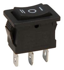 Wippenschalter 3-polig, schwarze Wippe, AC 250V/6A