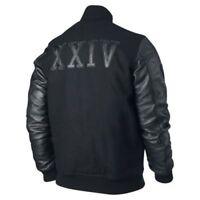 "Men's Michael Jordan KOBE Destroyer XXIV Jacket ""Battle"" COSTUME Leather Sleeves"