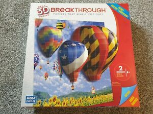 Hot Air Balloon Break Though 3D Jigsaw Puzzle (#50669AAN) - SEALED BOX