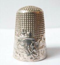 Dé à coudre argent Fables de La Fontaine LE SINGE ET LE CHAT silver  thimble