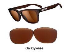 Galaxie rechange lentilles pour OAKLEY FROGSKINS LUNETTES DE SOLEIL PRIZM marron