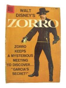 """Walt Disney's ZORRO 4-Color Dell Comics #933 1958 """"Garcia's Secret"""""""