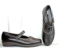 SAS Womens Mary Jane size 10 W Brown Leather Shoes WH24 FW63