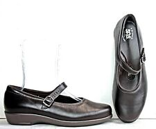 SAS Womens Mary Janes sz 10 W Brown Leather Shoes WH24 FW63