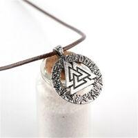 Wikinger Loki Runen Cabochon Amulett Halskette inklusive Kette