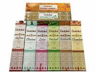 Goloka Premium Masala Incense Sticks Various Fragrance Pack of 12 (15g Each)