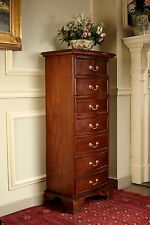 Solid Mahogany 7 Drawer Chest Traditional H120 x W51 x D36cm NEW CHT031