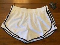 NWT New Womens Nike Tempo Running Black White Dri-Fit Shorts Size 1X