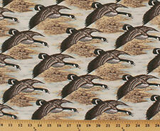 Canada Geese Goose Hunting Birds Nostalgic Hunt Cotton Fabric Print BTY D693.26