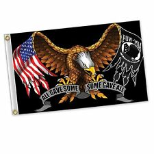 Pow Mia All Gave Some Some Gave All Eagle Polyester 3 x 5 Foot Flag