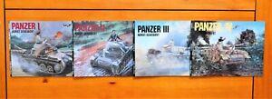 Panzer 1 Panzer II Panzer III & Panzer IV Schiffer Military History 4 Book Lot