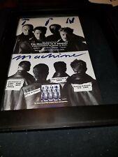 Tin Machine One Shot Rare Original Radio Promo Poster Ad Framed! #5
