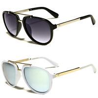 New Classic Fashion Mens Retro Metal Aviator's Vintage Designer Sunglasses Black