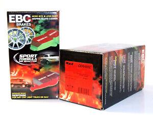 EBC Redstuff Ceramic Brake Pads (Front & Rear Set) for 16-19 SLC300
