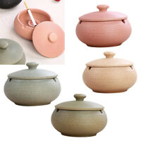 Ceramic Ashtray with Lid & Water Tank Windproof Ash Holder for Smokers