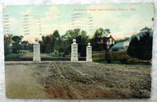 1910 Postcard Florence Nebraska Entrance To Forest Lawn Cemetery #E4