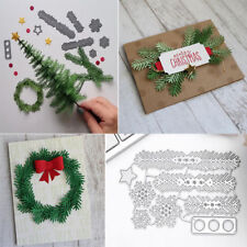 XMAS Pine Leaves Snowflake Metal Cutting Dies Stencil Scrapbook Embossing Card