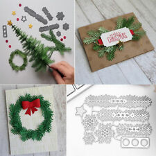 1Pc Pine Leaf Branch Snowflake Cutting Dies Stencil Scrapbook Christmas Supplies