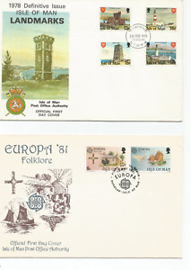 10 First day covers, Isle of Man, Great Britain