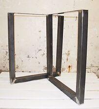 """2x tabella/Bench gambe, Metallo Acciaio industriale, Forcina saldati, non cucito 28"""",71cm"""