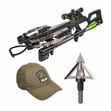 Bear Archery 400 FPS Bear X Intense Crossbow Package with Broadheads and Hat