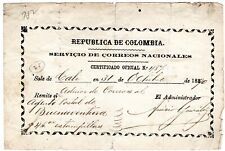 Colombia - Official Insured Letter (Cubierta) - Cali - B/Tura - 1890 - Sc Go27