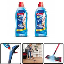 Vileda 1-2 Spray Mop Cleaning Liquid Floor Active Spray Cleaner Refill Pack of 2