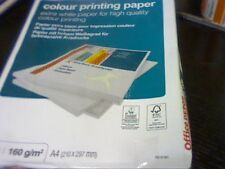 A4 COLOUR PRINTING PAPER 160gsm-50 SHEET EXTRA WHITE-OFFICE/ART/CRAFT-FREEHOLDER