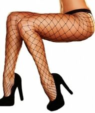 Plus Size Black Fishnet Pantyhose Stockings Diamond / Large Net - Aussie Seller