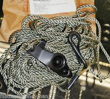 800LB RATED MILITARY SURPLUS 52' ANTENNA GUY WIRE ROPE LINE WITH HOOK &TENSIONER