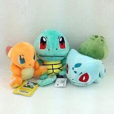 3X Kanto Starter Pokemon Bulbasaur Charmander Plush Toy Stuffed Animal Figure