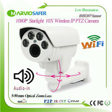 1080P Starlight 10X Zoom Outdoor Wireless IP PTZ Network Camera Support Audio