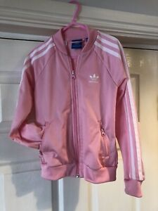 Adidas Girls Pink Tracksuit Top Age 7-8