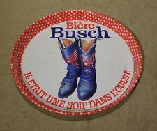 Plateau publicitaire vintage Bière Busch    santiag