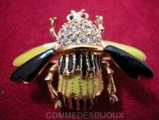 """Broche """"Frelon Guêpe"""" N° 7 dorée Prédateur Abeille Reine - Bijoux pur Bestiaire"""