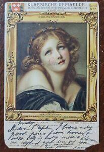 1901 Klassische Gemaelde Postcard to Genoa Italy with San Marino Postmark